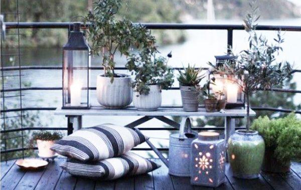 Terrasse et balcon esprit nordique, que du bien-être!