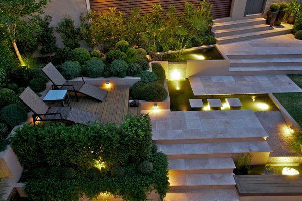 Lumière au jardin pour les soirées d'été