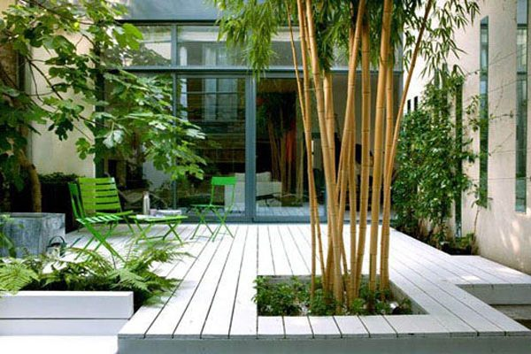 Jardin de ville zen mais cool