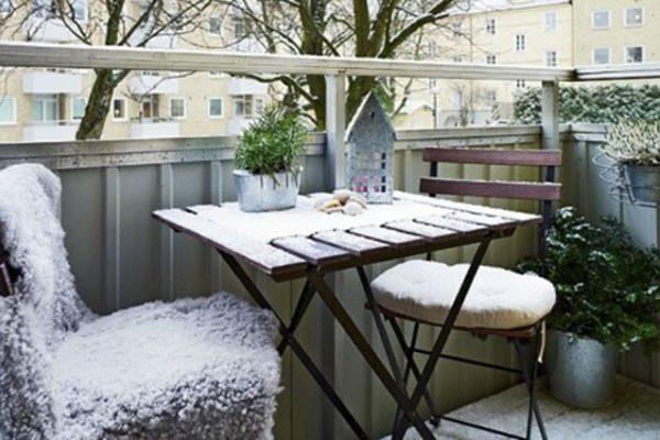Balcon en hiver, 10 astuces pour le faire vivre