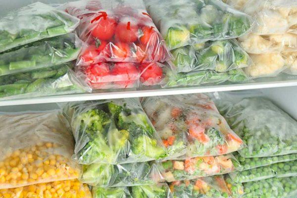 La congélation des légumes du jardin potager
